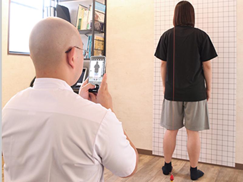 姿勢分析写真